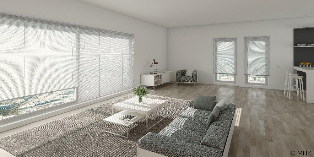 Jalousie Sichtschutz Wohnzimmer