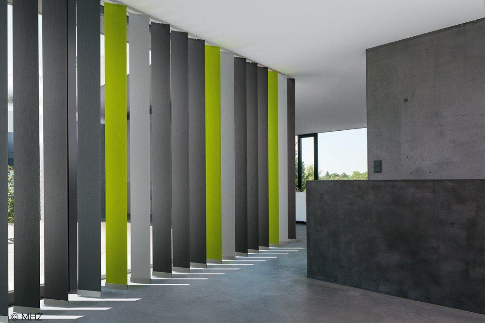 Vertikaljalousie Abwechslung modern