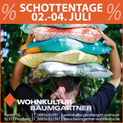 Penzberger Schottentage Wohnkultur Baumgartner